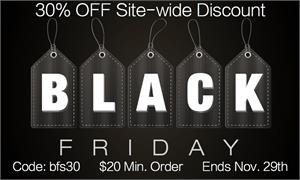 Black Friday Sale Discount 2015 30% Off Site-wide $20 minimum Coupon Code: bfs30